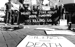 Jamie Dunbar, 1991 – HIV Activists protesting in Castlereagh Street, Sydney NSW