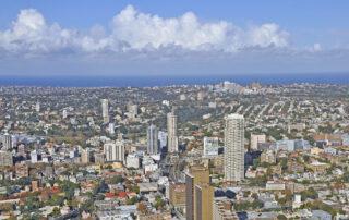 A city skyscape.