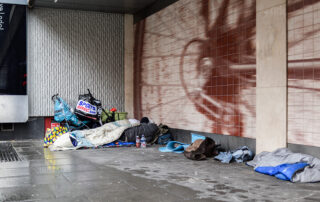 Rough sleepers in a public place. Editorial credit Ian Francis Shutterstock.com