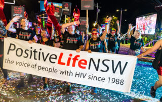Positive Life at the 2020 Mardi Gras Parade.